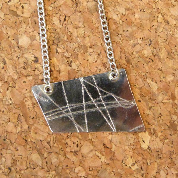 Silver 'wrap' Pendant