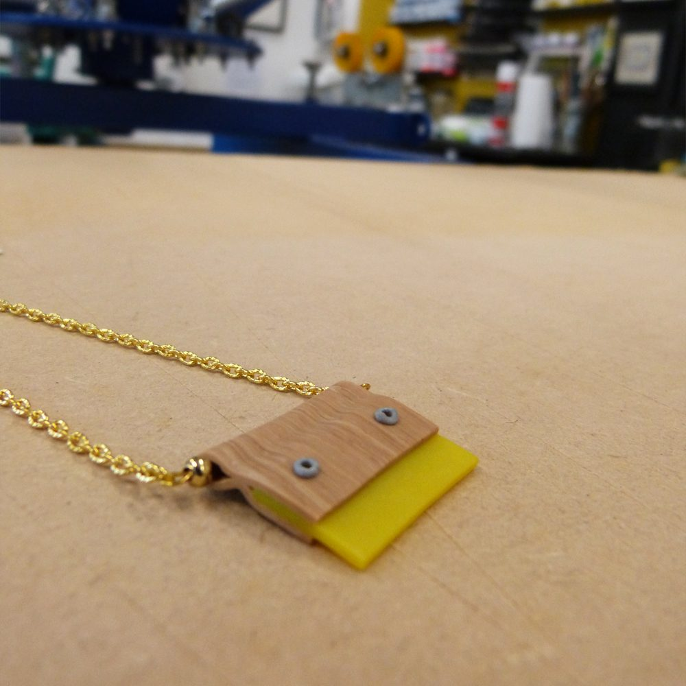 Squeegee Necklace (yellow)