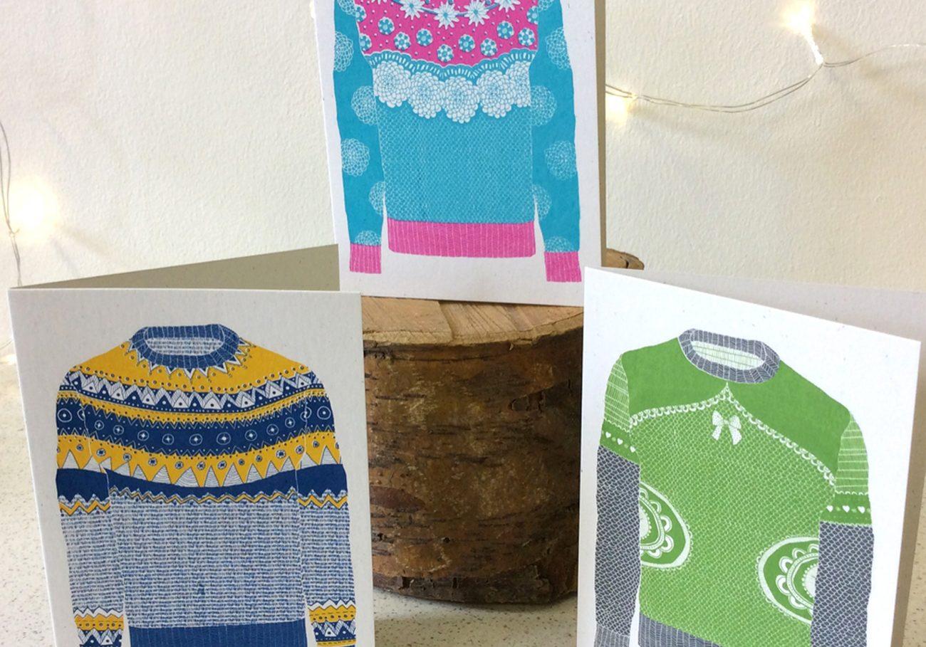 Screen Printed Christmas Cards – Green Door Printmaking Studio